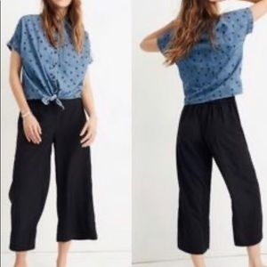 Madewell Huston Pull-On Crop Pants black small